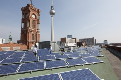 Solar array on Berlin city hall