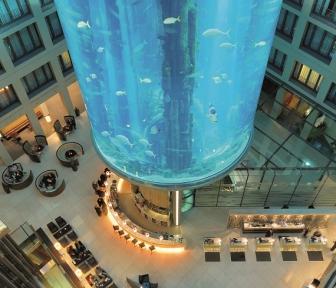 Radisson Blu elevator aquarium