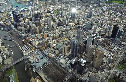 Aerial Melbourne