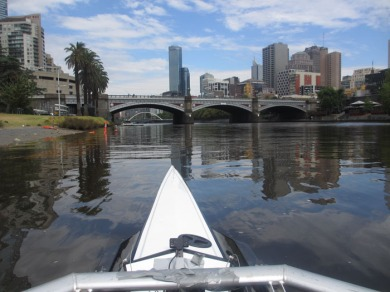 rowing on Yarra River in Melbourne